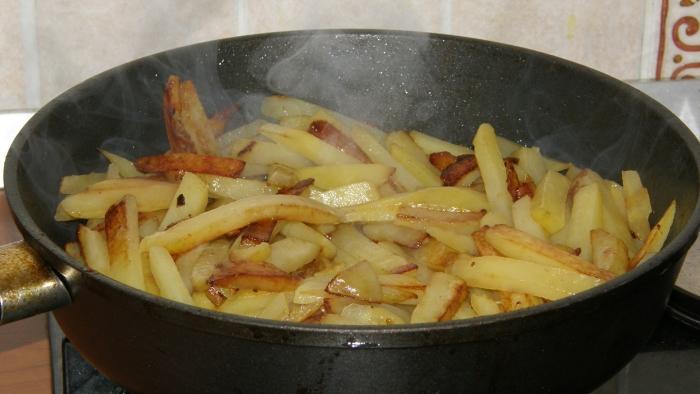Как пожарить картошку с грибами на сковороде пошаговый рецепт с 163